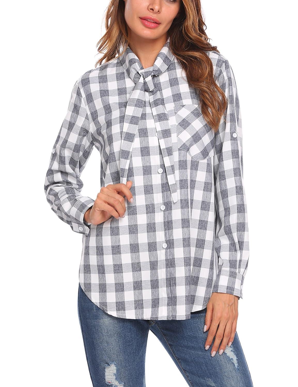 Se Miu Women Business Chiffon Lace Blouse Button Down High Low Shirt