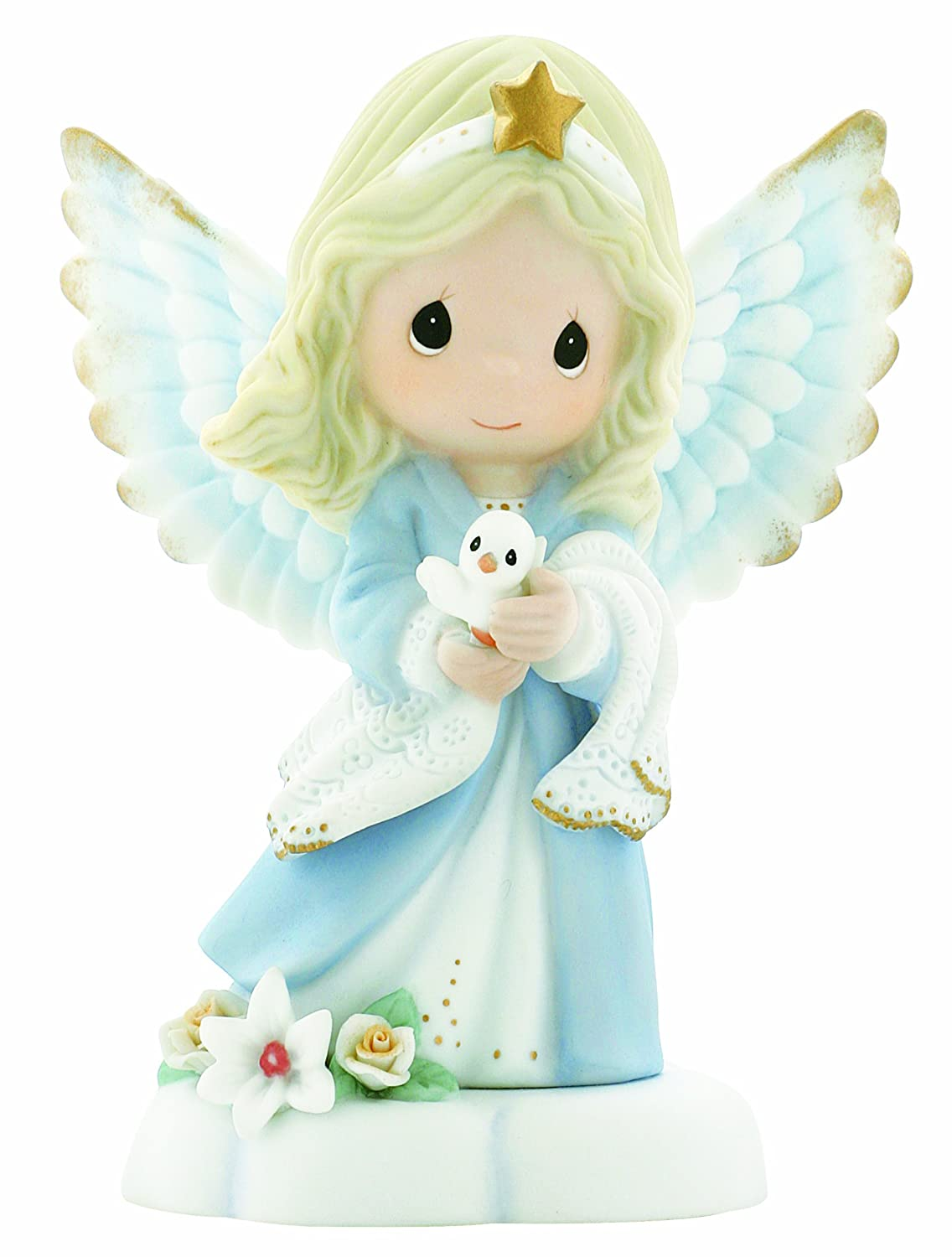 Precious Moments, In The Radiance Of Heaven's Light, Bisque Porcelain Figurine, Angel Gift