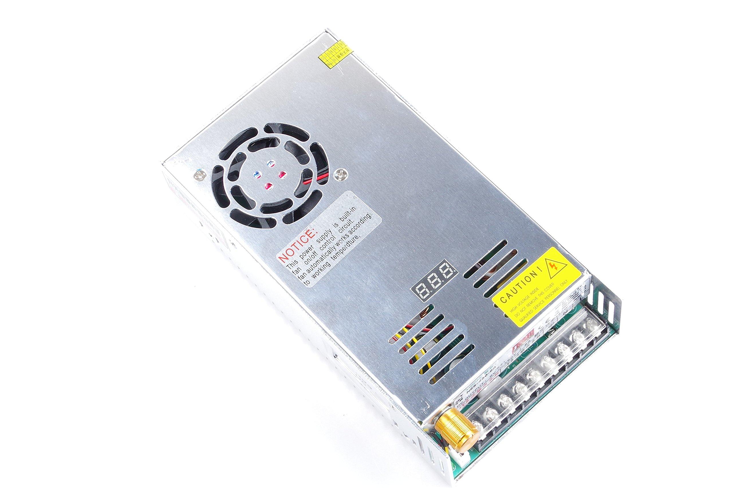 Adjustable DC Power Voltage Converter AC 110V-220V to DC 0-80V Module 80V 6A Switching Power Supply Digital Display 480W Voltage Regulator Transformer Built in Cooling Fan (DC 0-80V 6A) by TOFKE (Image #3)
