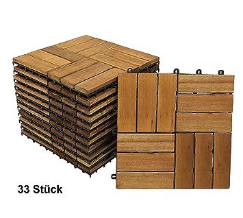 SAM Terrassenfliese 02 aus Akazien-Holz, FSC 100% Zertifiziert, 33er ...