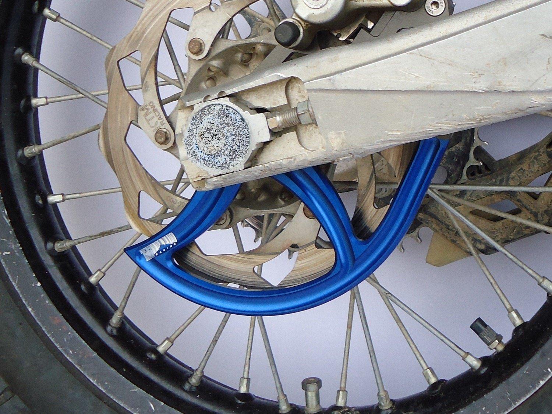 7602 Racing rear disc guard. KTM / Husqvarna. 20mm axle. blue