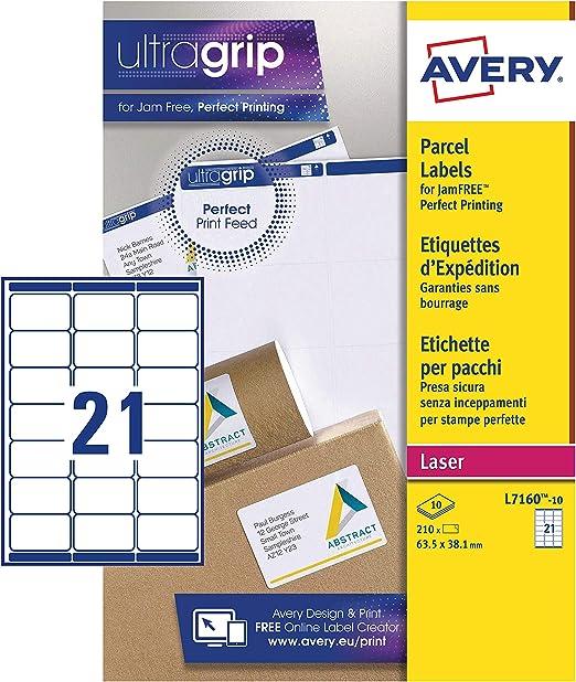 200 FOGLI 14 per foglio-A4 Autoadesivo Stampante etichette indirizzo-L7163