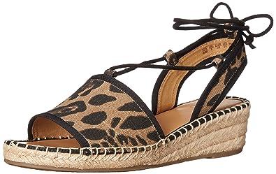 Franco Sarto Women's Liona Espadrille Wedge Sandal, Camel Leopard, ...