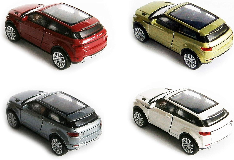 Gr/ün-Metallic Welly Land Rover Range Rover Evoque Modellauto Modell Auto Spielzeugauto 4-Farben 69