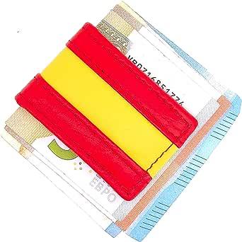 Money Clip Pinza de Billetes Piel Bandera de España: Amazon.es: Ropa y accesorios