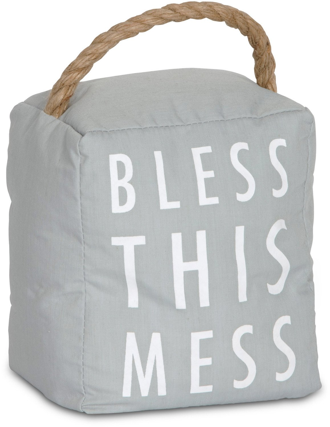 Pavilion Gift Company 72194 Bless This Mess Door Stopper, 5 x 6''