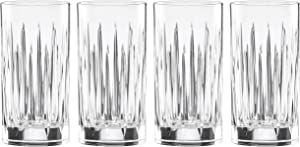 REED AND BARTON Soho Crystal 4pc Iced Beverage Glass Set, 5.90 LB, Clear