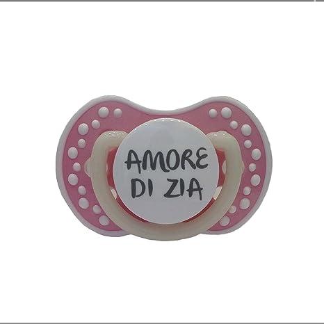 Chupete Chupete ROSA PINK personalizado con frase Amor de Zia Talla ...