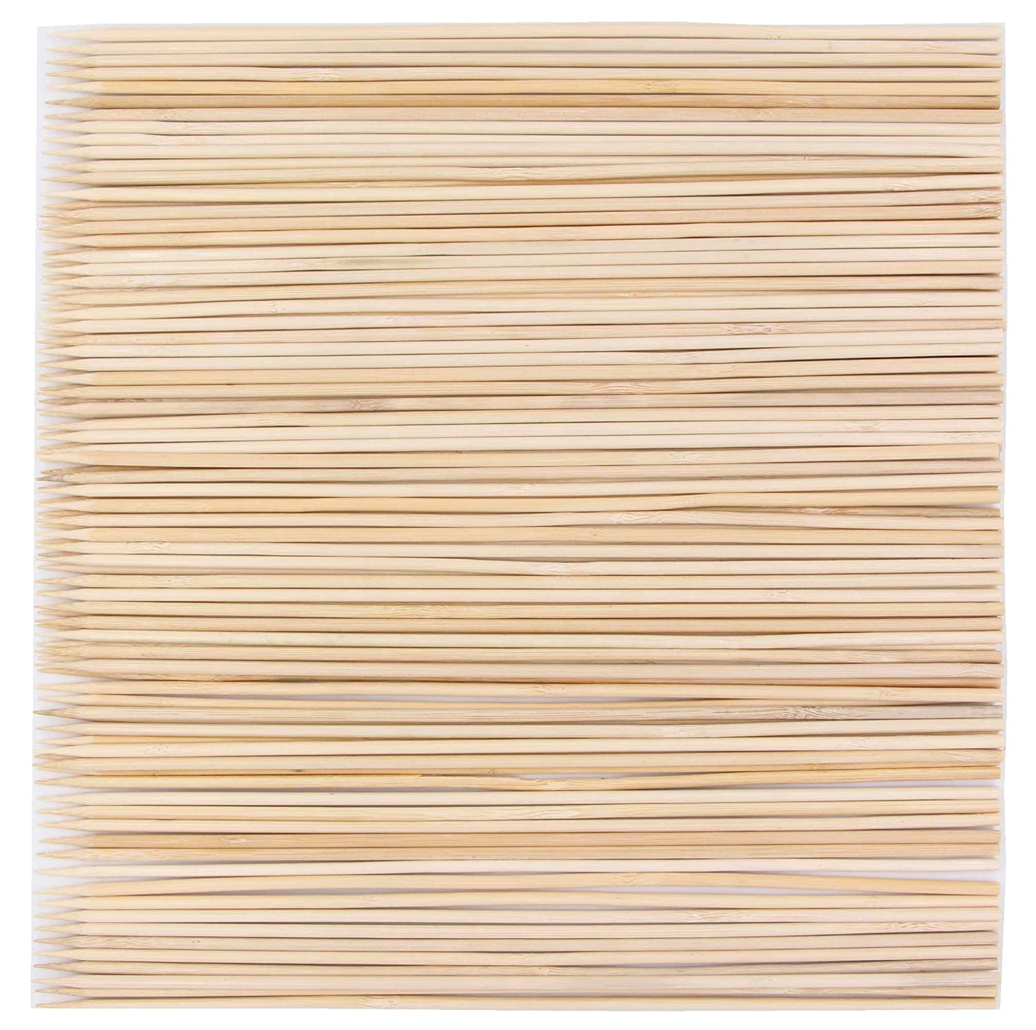 LeBeila Bamboo Skewers 12 Inch 100PCS BBQ Skewers Bamboo Grill Shish Kabob Skewers 100% Natural Bamboo Sticks for Barbecue, Marshmallow, Fondue, Cooking, Grilling & Kabob (100, 11.8'') 11.8'') LBL-PAJ6M-16791