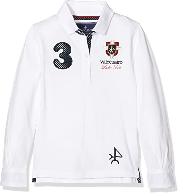 Valecuatro Polo NA Escudo Ladies, Blanco, 4 para Niñas: Amazon.es ...
