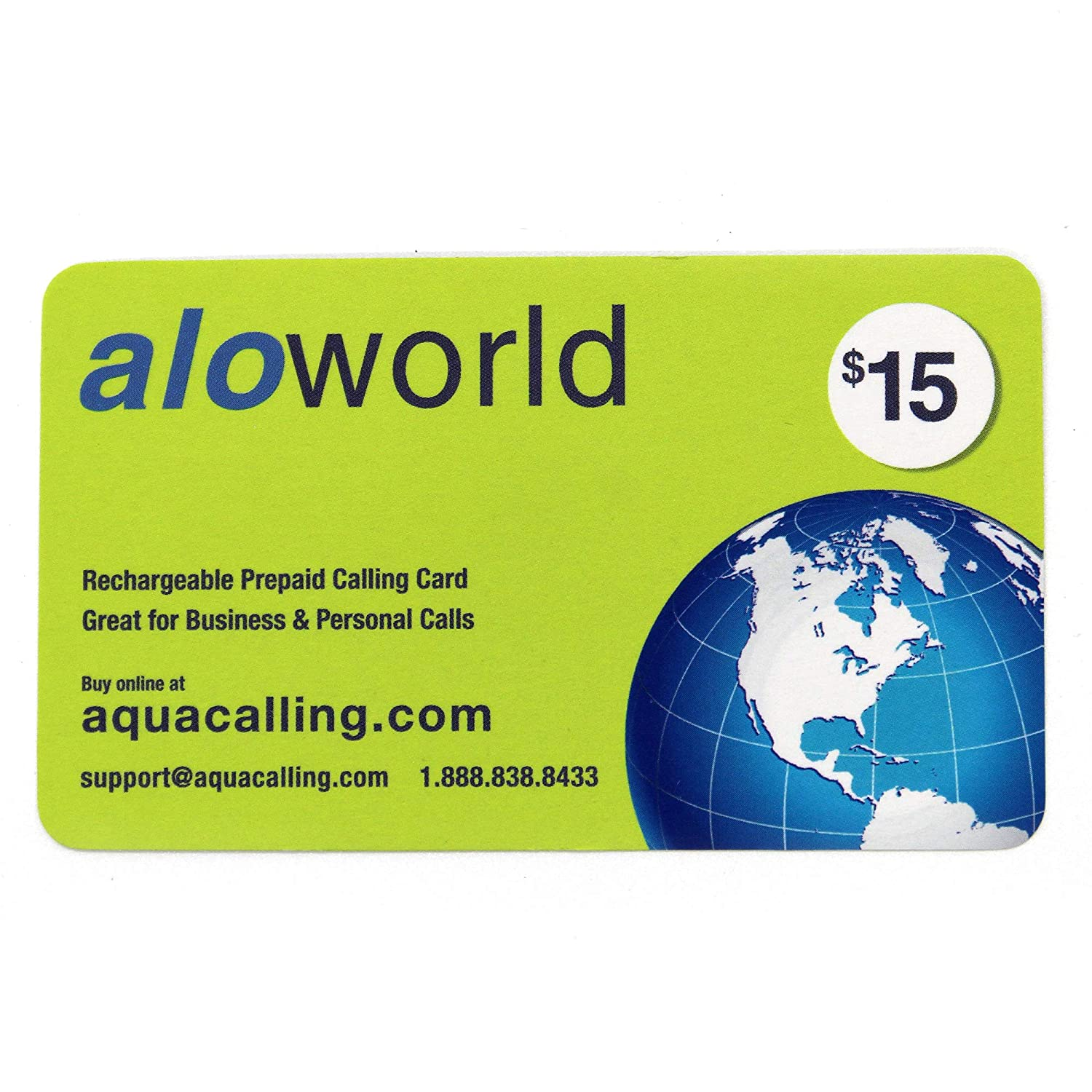 $15 Prepaid Phone Card for Domestic & International Calls - Calling Card Does not expire by Calling 1.888.838.8433 to Extend. No Pay Phone Fee by Using Toll Free 1.855.728.7433