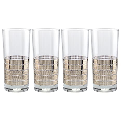 f4266e5291e5 Image Unavailable. Image not available for. Color  Culver Gold 22k 15-Ounce  Cooler Glass Set ...