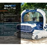 Aquabot Elite Robotic Pool Cleaner for Gunite, Concrete, Pebble Pools with Anti-Tangle Swivel, Massive Dual Cartridge…