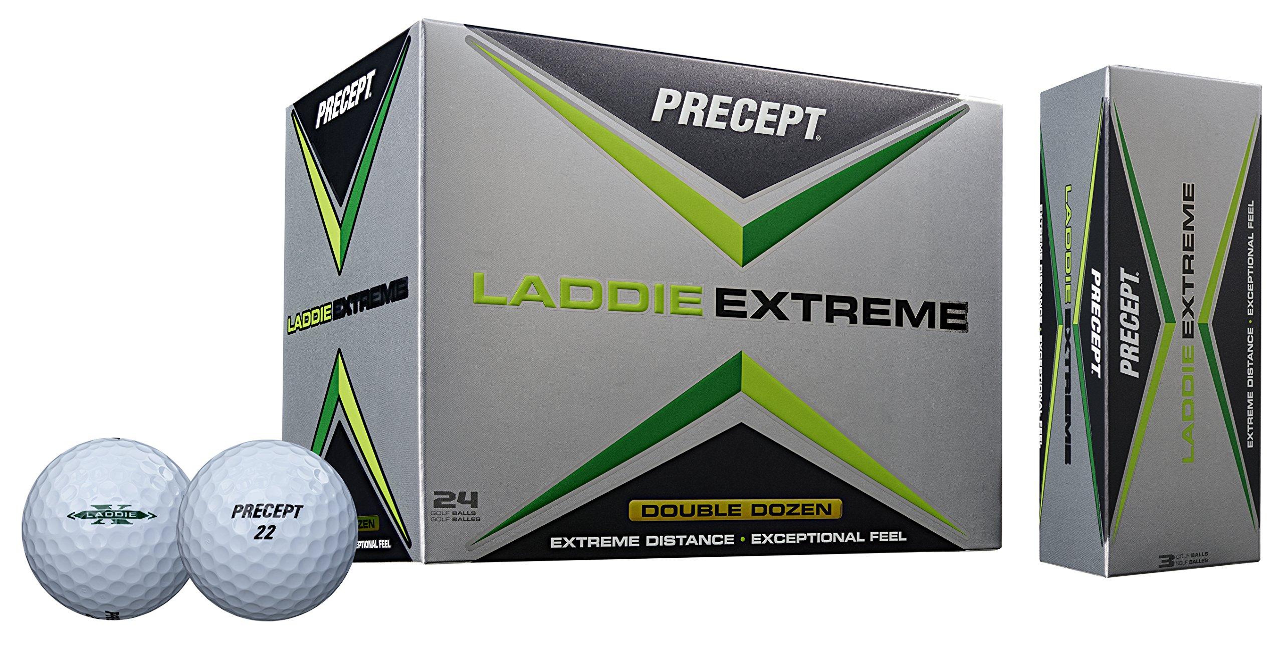 Precept 2017 Laddie Extreme Golf Balls (24 Balls), White by Precept