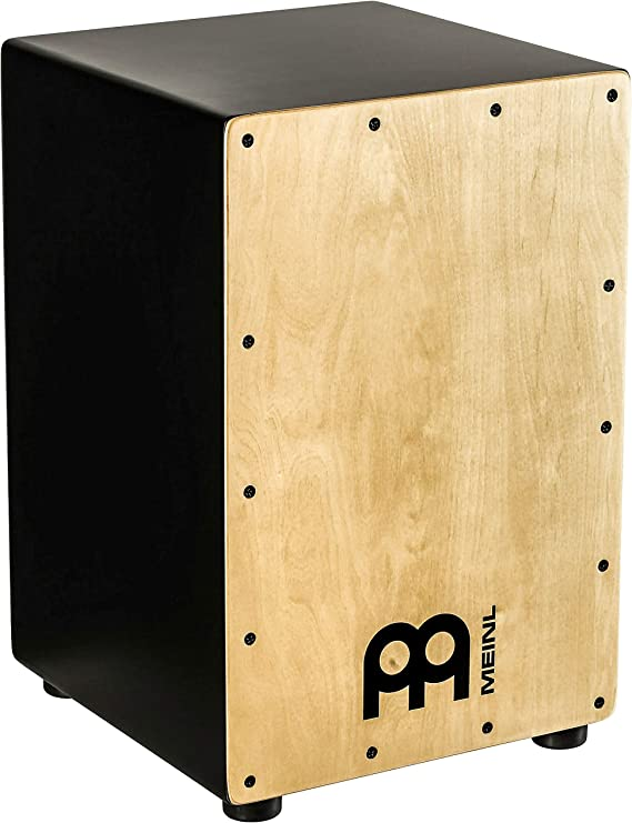 Meinl Cajon Box Drum with Internal Snares - NOT MADE IN CHINA - Maple Frontplate / MDF Body Full Size