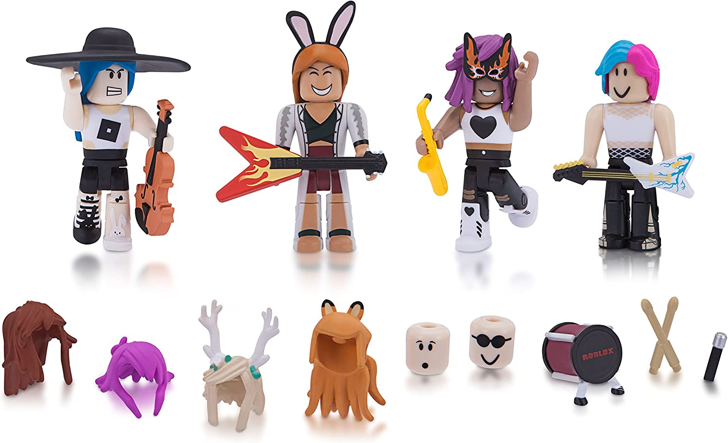 30 Cool Roblox Characters For Girls Amazon Com Roblox Celebrity Collection Superstars Four Figure Pack Includes Exclusive Virtual Item Toys Games