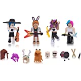 Roblox Celebrity 4 Pack Fashion Icons Zappies Limited Amazon Com Roblox Celebrity Collection Fashion Icons Four Figure Pack Includes Exclusive Virtual Item Toys Games