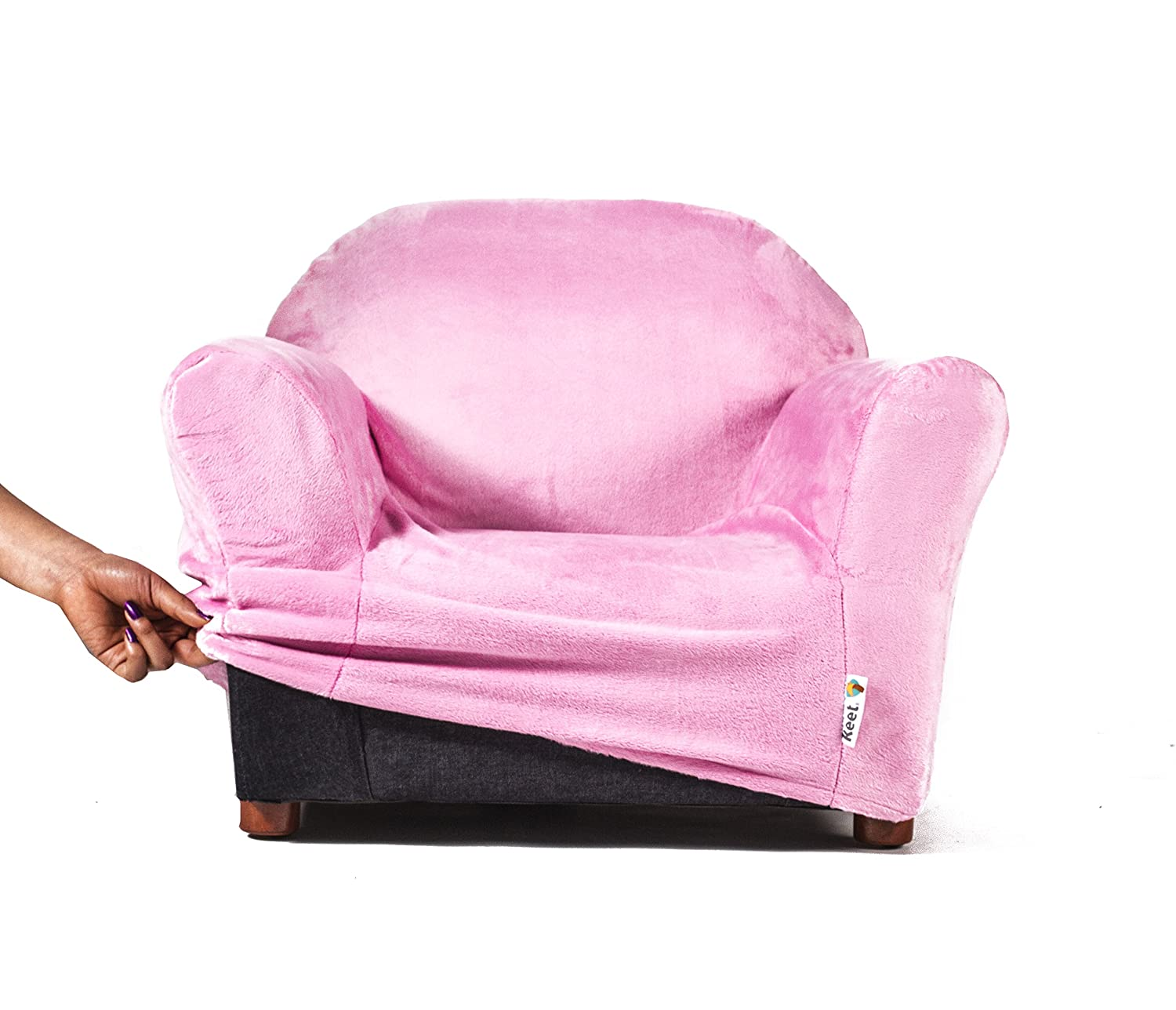 Nice Keet Roundy Kids Chair COVER ONLY, 9 Colors Available (Pink)