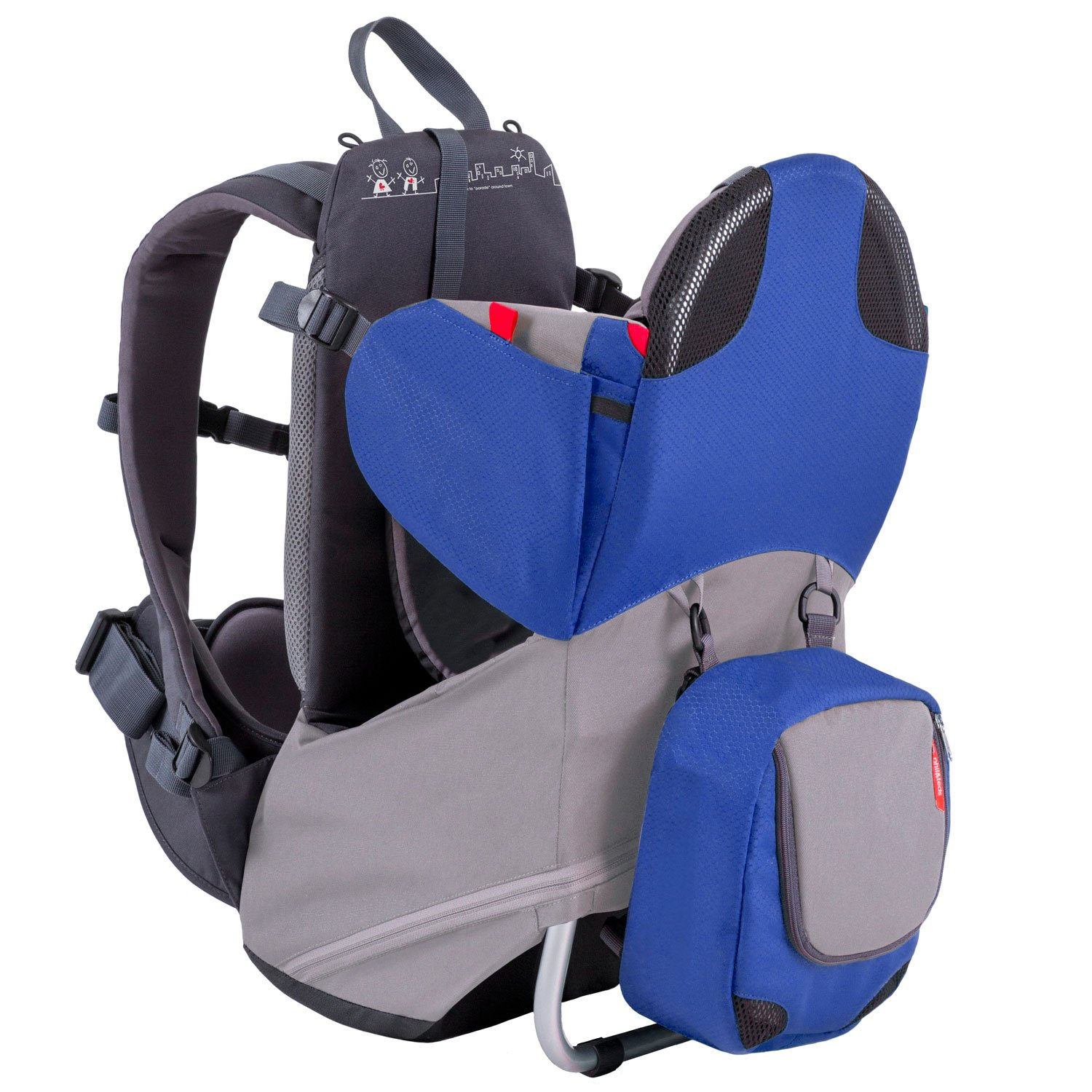 phil&teds Parade Lightweight Backpack Carrier, Blue/Grey by phil&teds (Image #1)