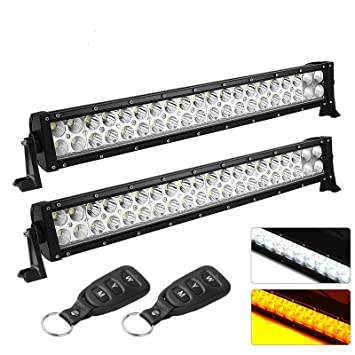 Amazon led light bar yitamotor 2 pack 22inch light baramber led light bar yitamotor 2 pack 22inch light baramber white light bar combo aloadofball Image collections