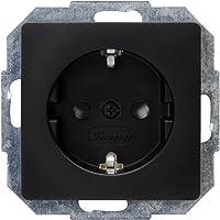 Kopp Paris 920650080 Stekkerdoos met verhoogde aanraakbescherming, inbouw, matzwart, 1 stuk