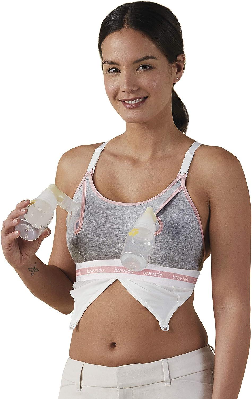 BRAVADO! DESIGNS Women's Maternity Clip and Pump Hands-Free Nursing Bra Accessory, S...