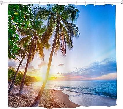 des Caraïbes tropicale côte Plage rideau de douche