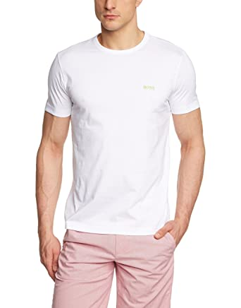 e317db77c Amazon.com: Hugo Boss T-Shirt - Mens Tee In White: Clothing