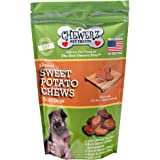 Chewerz SWEET POTATO DOG TREATS, Made in USA Only, Best All Natural Taters Pet Snack, Healthy Grain Free Chews, Premium USA #1 Yams, Choice Vegetarian Treat For Dogs, Satisfaction Guarantee