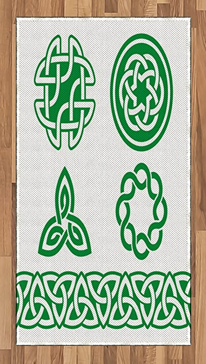 Amazon Ambesonne Irish Area Rug Medieval Ancient Knots Symbols