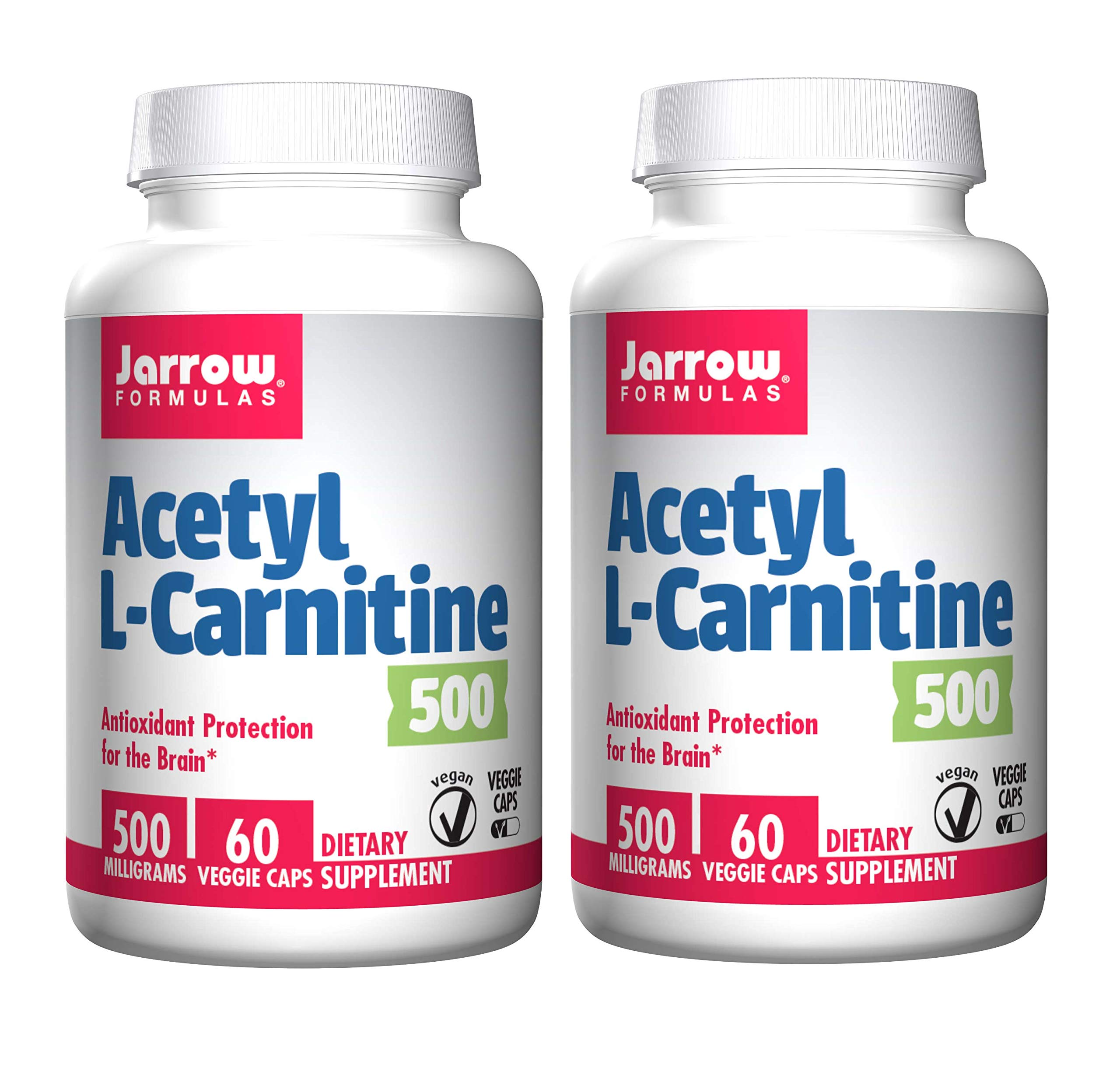 Jarrow Formulas Acetyl L-Carnitine Antioxidant Protection for The Brain and Energy Production 500 Milligrams (60 Veggie Caps)
