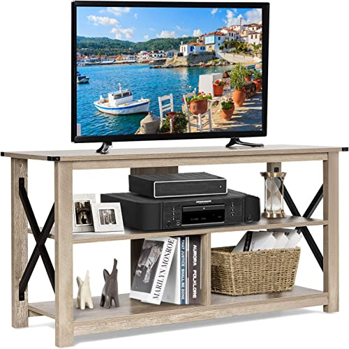 Tangkula Wooden Universal TV Stand