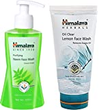 Himalaya Herbals Purifying Neem Face Wash, 200ml & Oil Clear Lemon Face Wash, 150ml Combo