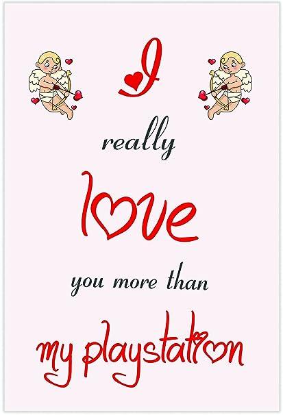 I Love My Playstation temáticas de tarjeta - día de San Valentín ...