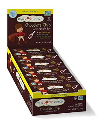 MySuperSnacks, Granola Bars (Chocolate Chip, 18 Count)