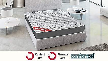 PIKOLIN Colchón viscoelástico HR 135x182 firmeza Alta, Reversible, máxima Calidad, Alto 25 cm