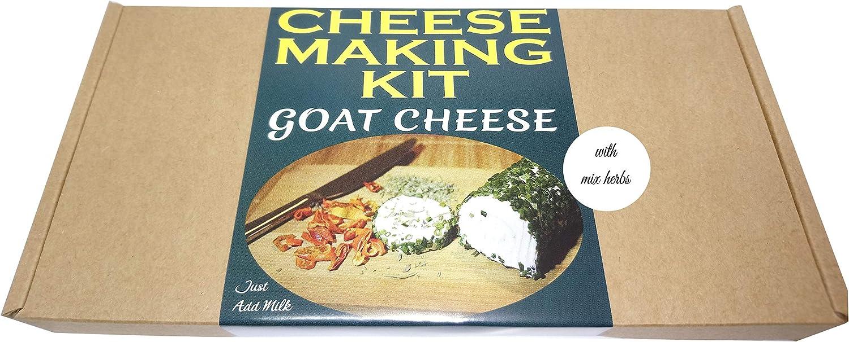 Kit Premium = queso de cabra de queso con hierbas = gran regalo presente = hacer tu propio queso