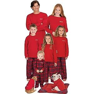 PajamaGram Blue Snowflake Fleece Matching Family Pajama Set ...