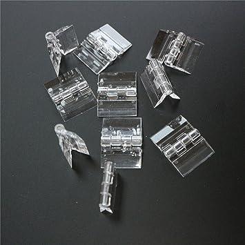 10pcs Clear Acrylic Plexiglass Lucite Hinge 33x30MM
