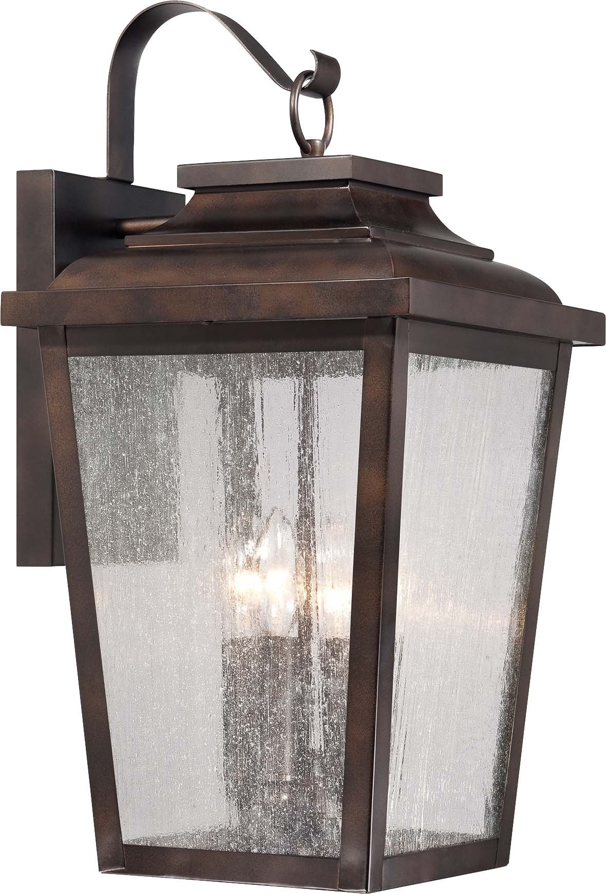 Minka Lavery 72173-189, Irvington Manor Aluminum Outdoor Wall Sconce Light, 300 Watts, Bronze with Clear Seeded Glass