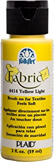 product image for FolkArt 4415 Acrylic Fabric Paint, 2 oz, Yellow Citron