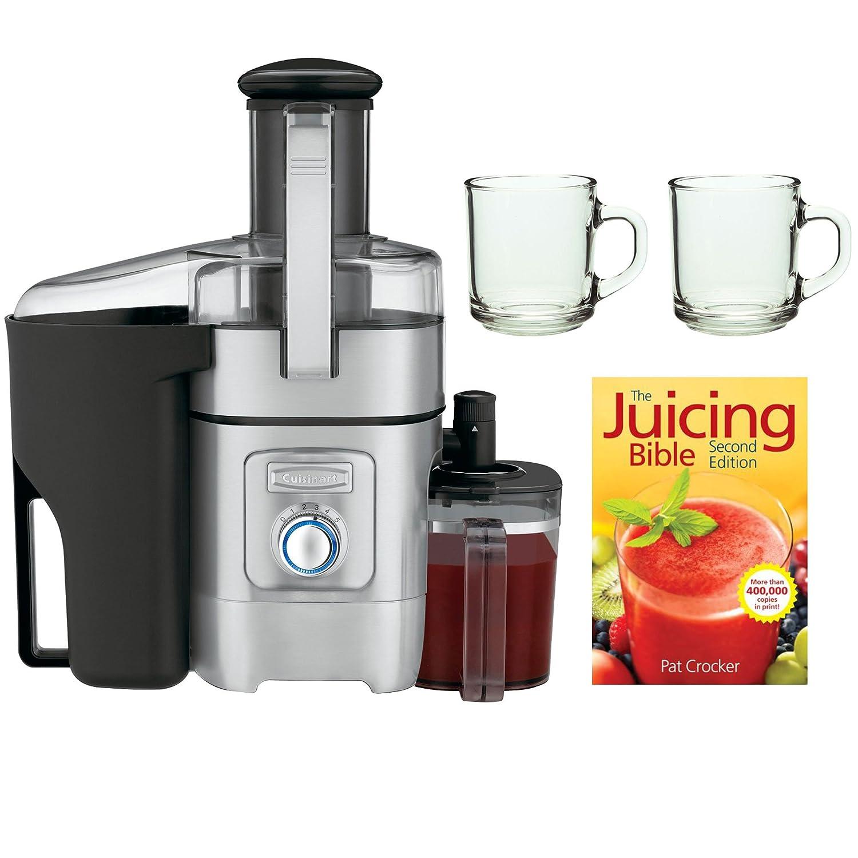 Cuisinart CJE-1000 Juice Extractor + Handy Glass Coffee Mug 2-Pieces + The Juicing Bible