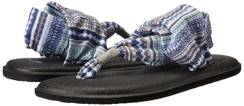 Sanuk Damen Yoga Sling#2 Prints Blanket Zehentrenner, Lead Grau Lanai Blanket Prints 5b5051