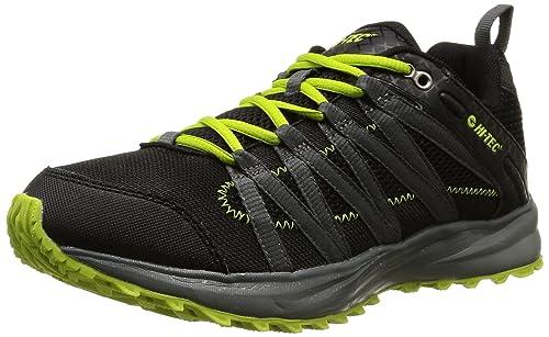 Hi-Tec Sensor Trail Lite, Zapatillas de Deporte Exterior para Hombre, Verde-Vert (Black/Graphite/Lime), 41 EU: Amazon.es: Zapatos y complementos
