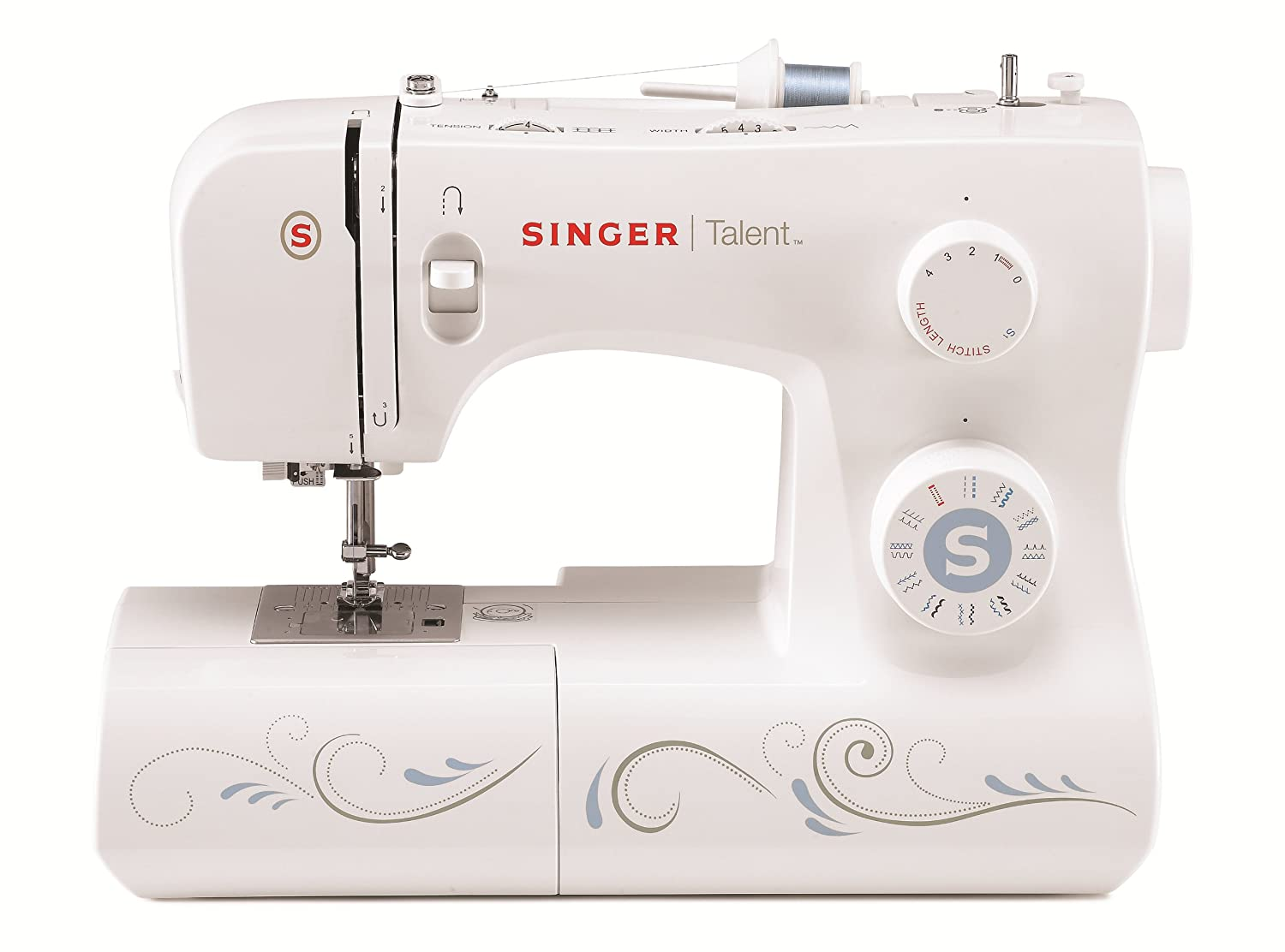 Amazon.com: SINGER | Talent 3323S Portable Sewing Machine including 23  Built-In Stitches, Automatic Needle Threader, Top Drop-in Bobbin and Bonus  Fashion ...