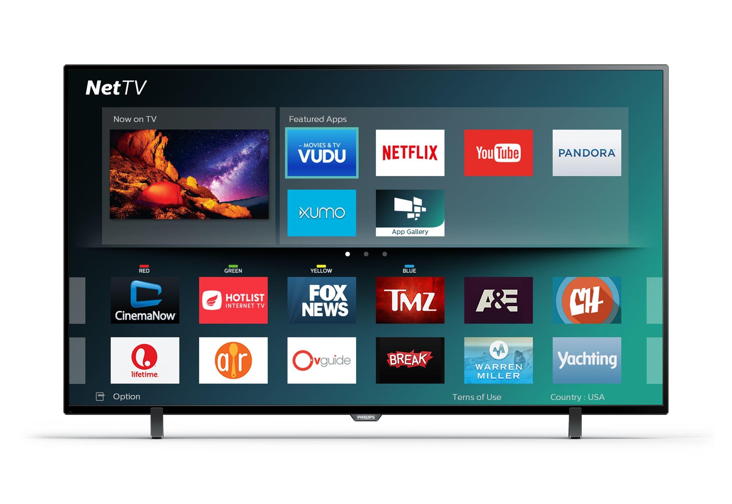"""Philips 55PFL5602/F7 55"""" Class 4K Ultra HD Smart LED TV 2160p 60Hz Black 1"""