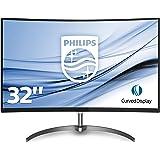 Philips 328E8QJAB/00 80 cm (32 Zoll) Monitor (VGA, HDMI, 4ms Reaktionszeit, 1920 x 1080, Displayport, Curved) schwarz