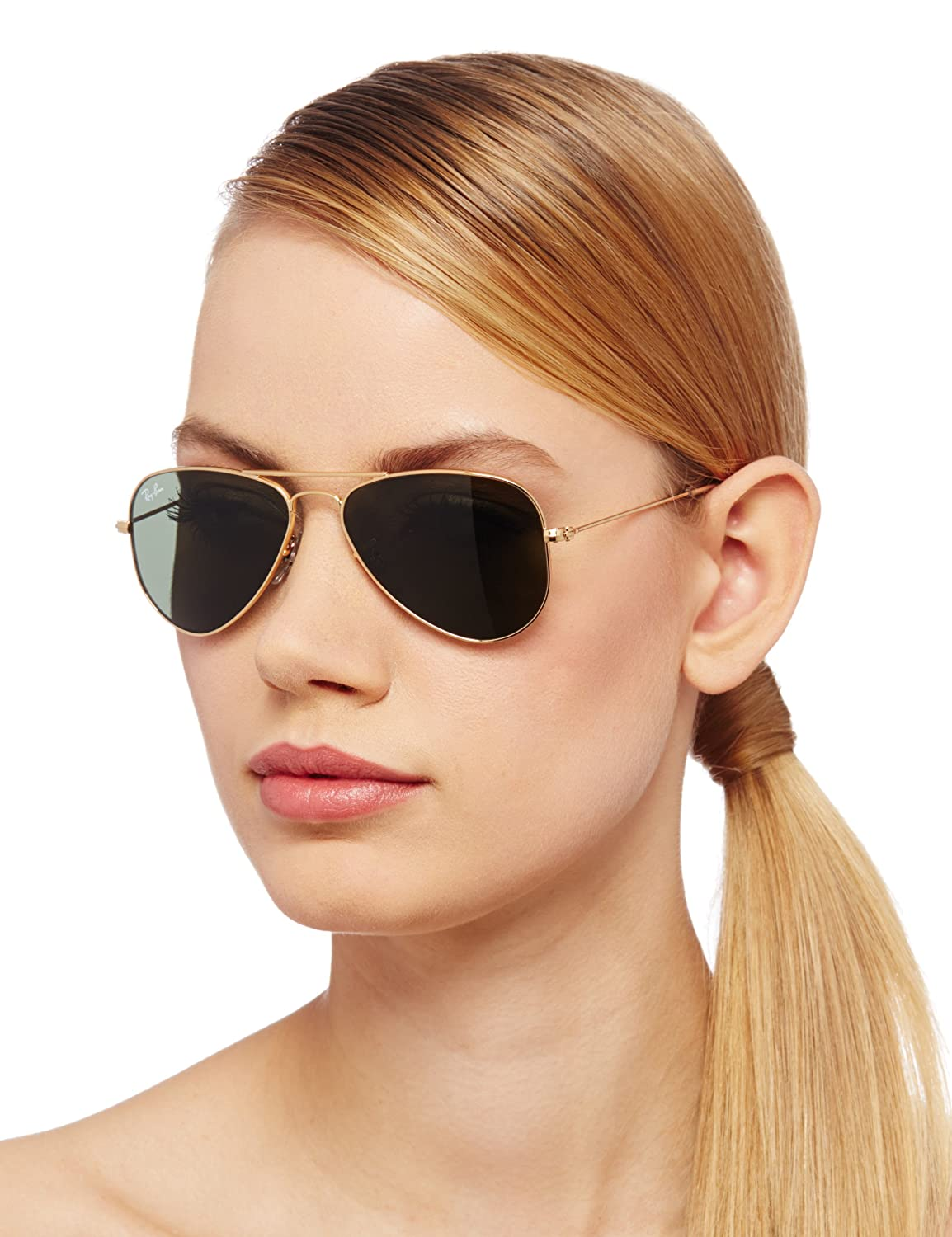 ray ban aviator sunglasses for small faces  ray ban men's gradient aviator rb3044 l0207 52 gold aviator sunglasses: ray ban: amazon.ca: clothing & accessories