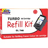 Turbo Ink Cartridge Refill Kit for Canon CL 746 multi colour