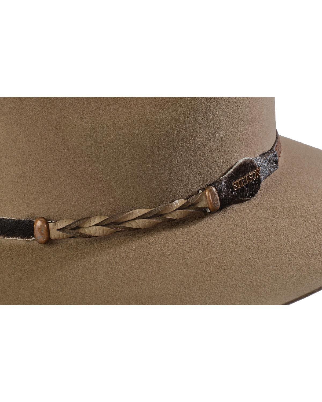Stetson Men's 4X Drifter Buffalo Felt Pinch Front Cowboy Hat Stone 7 1/4 by Stetson (Image #2)